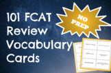 101 FCAT 8th Grade Science NO PREP Vocabulary Cards Activity