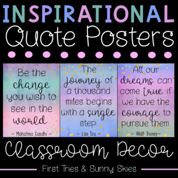 Inspiring Quotes Posters - Inspirational Quotes Posters - Growth Mindset Posters