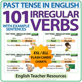 101 Irregular Verbs - Past Tense in English - Flash Cards