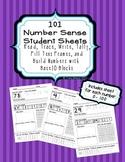 101 Kindergarten Number Sense Student Sheets