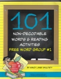 101 Non-Decodable Words and Reading Activities Free Word Group #1