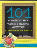 101 Non-Decodable Words and Reading Activities Complete Book Bundle