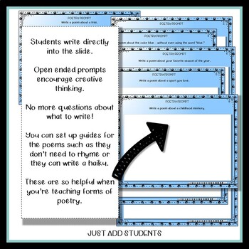 101 Poetry Idea Prompts -- Writing Support for Your Students