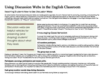 101 Printable Discussion Webs for High School English