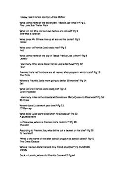 101 Questions for Freaky Fast Frankie Joe