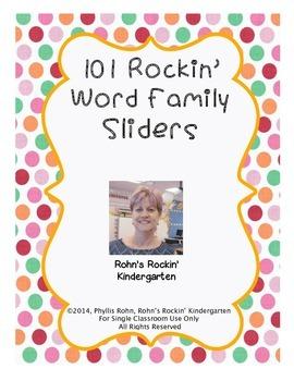 101 Rockin' Word Family Sliders