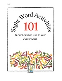 101 Sight Word Ideas We Love