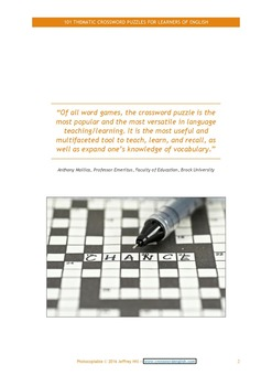 101 Thematic Crossword Puzzles for Learners of English