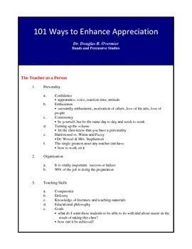 101 Ways to Enhance Appreciation