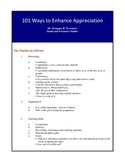 101 Ways to Enhance Appreciation