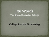 101 Words You Should Know for College PowerPoint