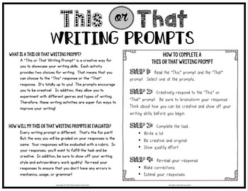 creative writing prompts 8th grade Writing to prompts, writing, eighth 8th grade english language arts standards, grade level help, internet 4 classrooms internet resources, teachers, students, children.