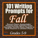 101 Essay, Creative, and Journal Writing Prompts for Fall