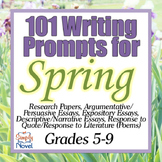 101 Essay Ideas, Creative Writing Prompts and Journal Writing Prompts for Spring