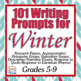 101 Essay Ideas, Creative Writing, and Journal Writing Prompts for Winter