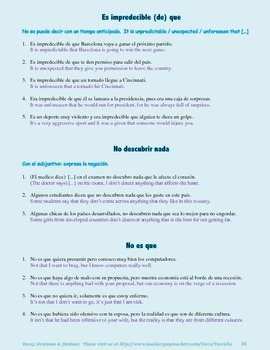 Spanish subjunctive - 101 expressions that always take the subjunctive