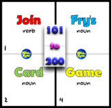 101 to 200 Fry's/Sight Words ~ Card Game ~ 50 Cards + 10 + Board