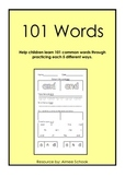 101 words - Spelling, writing, tracing, word recognition