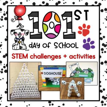 101st Day of School STEM Challenges & Flipbook {8 challenge options}