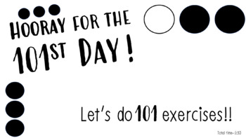 101st Day of School -- 101 Exercises Follow Along VIDEO