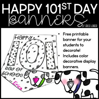 101st Day of School Banner Freebie!