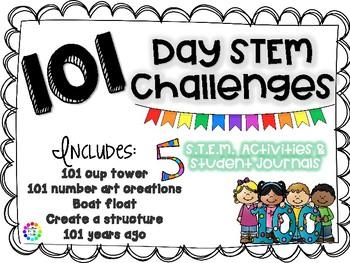 101st Day of School STEM bundle