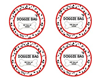 101st day of school Doggie Bag Tag