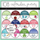 106 Calendar Circles for Holidays & Noteworthy Days (with 12 Editable Circles)