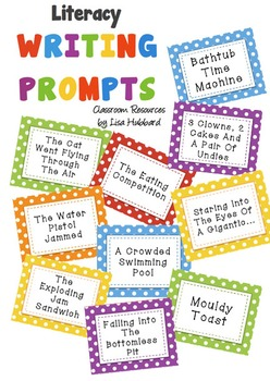 102 Literacy Writing Prompt Idea Cards - Inspire the uninspired writers!!