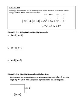 10.2 Multiplying Polynomials