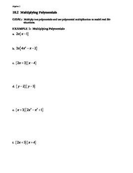 10.2 Multiplying Polynomials