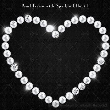 102 Pearl Heart Frame Clip Arts Heart Frames Pearl Frames