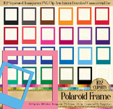 102 Solid Color Polaroid Frames Clip Arts Digital Photo Frames