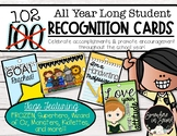 102 Student Recognition Cards to Celebrate your students A