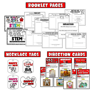 102nd Day STEM Challenges & Flipbook {4 challenges} 102 days in 2nd grade