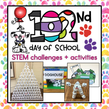 102nd Day of School STEM Challenges & Flipbook {8 challenge options}
