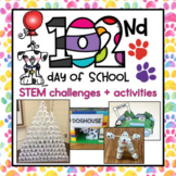 102nd Day of School STEM Challenges + Signs