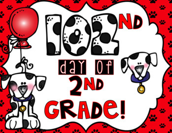 102nd day of school sign to hold for a photo!