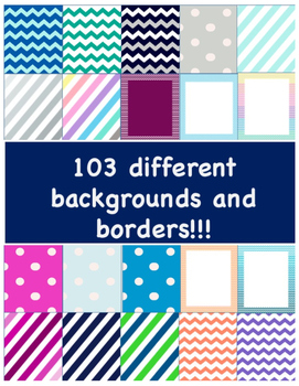 104 Backgrounds and Borders Bundle! Commercial and Personal Use