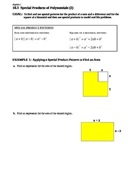 10.3 Special Products of Polynomials (2)
