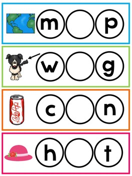 103 Write and Wipe Fill In the Missing Vowel Cards. Preschool-KDG Phonics.