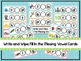 103 Write and Wipe Fill In the Missing Vowel Cards. Presch