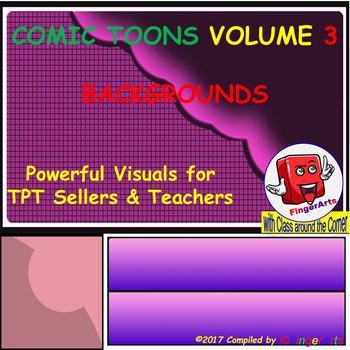 Volume 3 COMIC BACKGROUNDS for TPT Sellers / Creators / Teachers