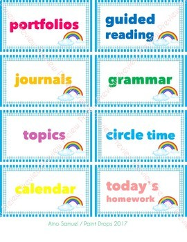 104 Colorful Rainbow Classroom Supplies Labels - Ready to Print! {DECOR}