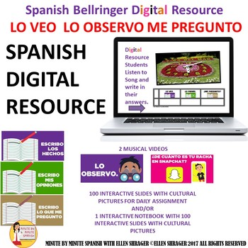 105 Spanish Digital Resource Cultural Pre-Class Bell Ringers