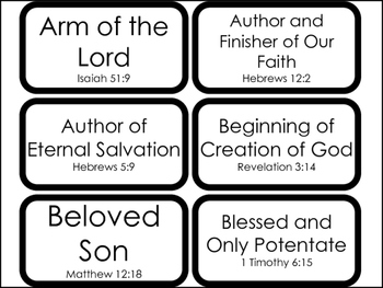 104 The Many Names of Jesus in the Bible Flashcards.  Bible Studies.