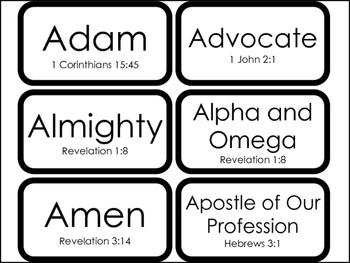 image regarding Printable Revelation Bible Study called 104 The A great number of Names of Jesus in just the Bible Flashcards. Bible Experiments.