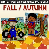 Collaborative Posters Fall Coloring Packet, Fun Center October Art Activity