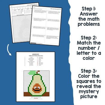 2-Digit Addition With Regrouping Word Problems, Adding Color By Number Sheets
