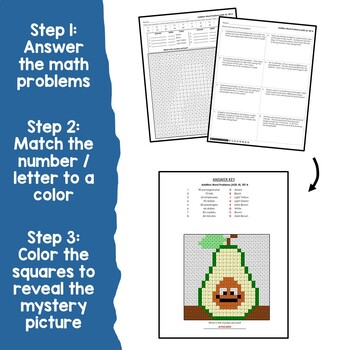 Two Digit Addition Word Problems With Regrouping, Add 2 Digit And Color Sheets